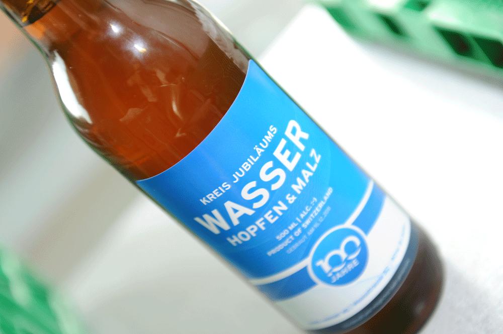 Kreis Wasser Jubilaeumsbier zum 100 Jahr Jubilaeum