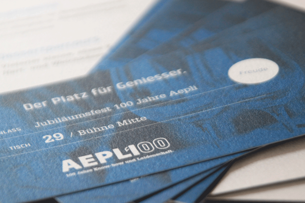 Mosaik Agentur Aepli Metallbau Jubilaeumsevent Einladungskarte