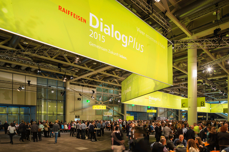 Dialog plus Signaletik Mitarbeiterevent Raiffeisen Schweiz