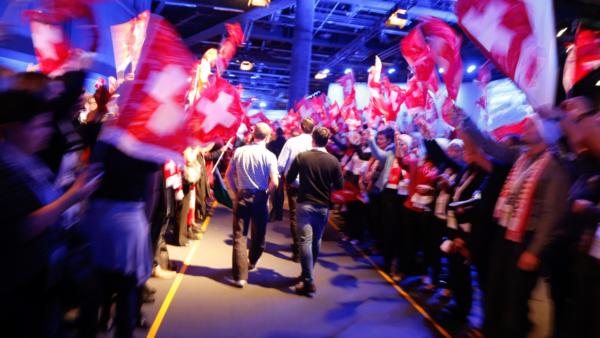 Dialog plus Einlaufen der Gäste Mitarbeiterevent Raiffeisen Schweiz
