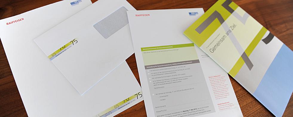 Mosaik Agentur für Kommunikation Corporate Design Briefschaften für ein Jubiläum