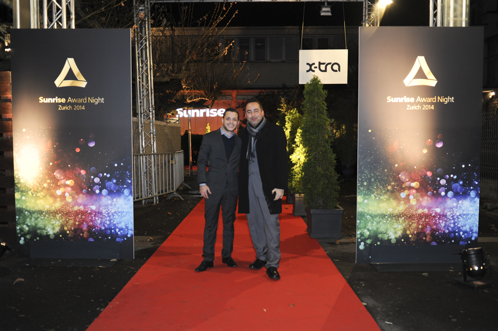 Mosaik Agentur Award-Verleihung Sunrise Mitarbeiteranlass roter Teppich