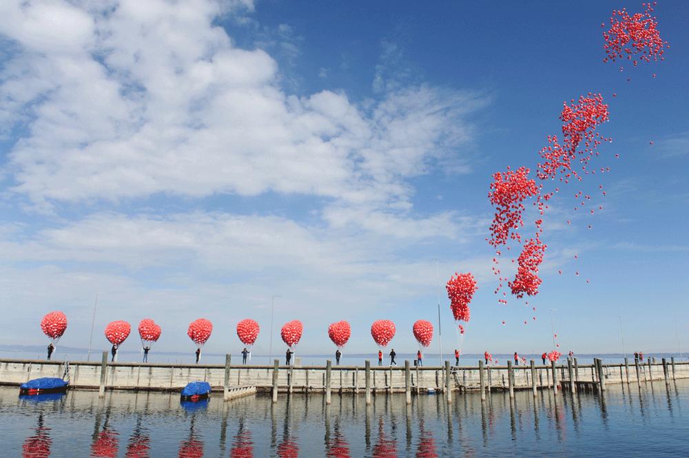 Mosaik Agentur Jubiläumsanlass für die Raiffeisenbank Ballonaktion