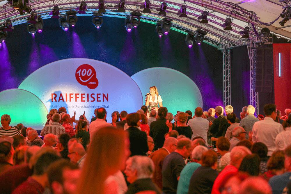 Mosaik Agentur Jubiläumsanlass für die Raiffeisenbank Rorschacherberg Thal