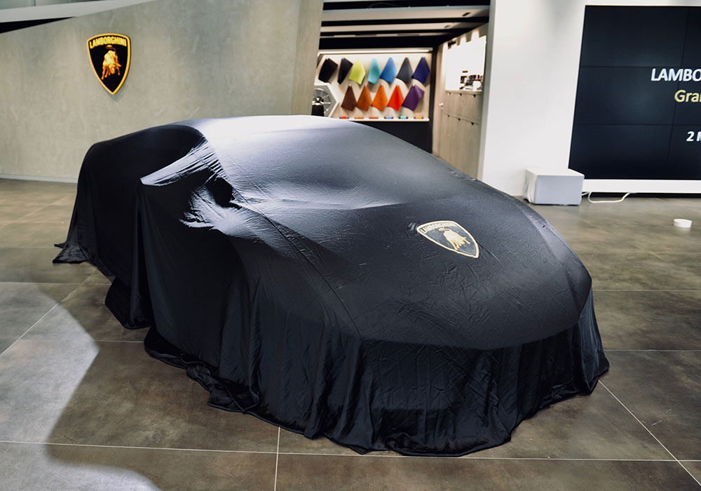 Mosaik Agentur Eroeffnung Lamborghini